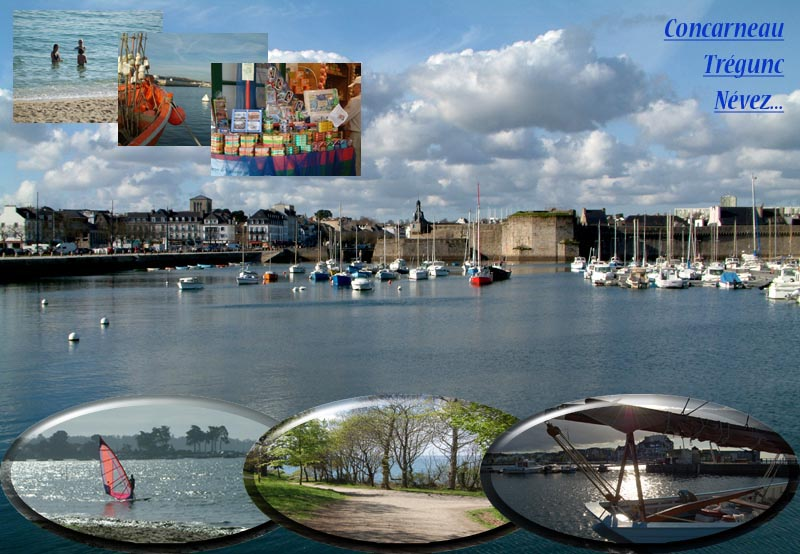 Concarneau south Brittany in France
